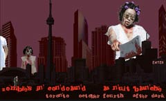 jillian mcdonald, zombies in condoland, nuit blanche, toronto, web project